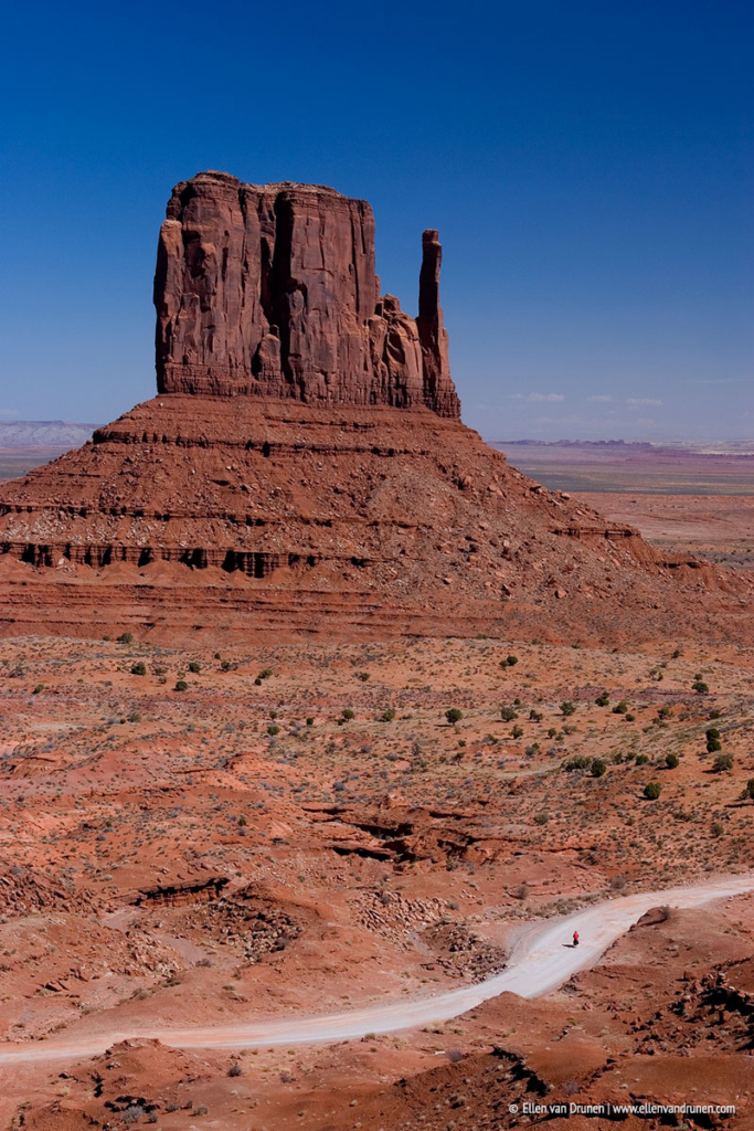 Cycling in Monument Valley