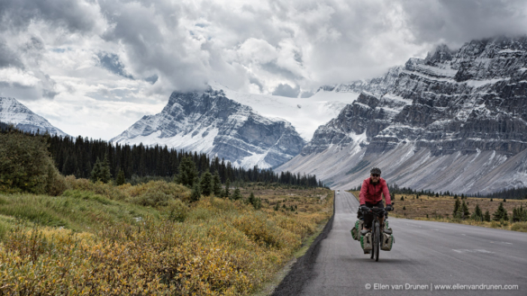 Cycling the Icefield Parkway in Canada