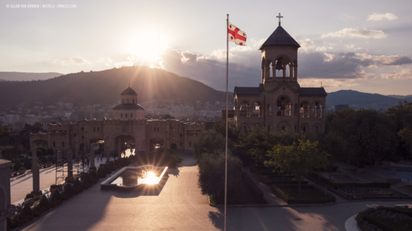 Sunset over Tblisi
