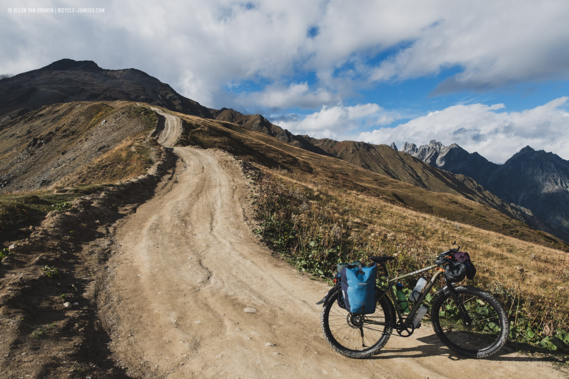 Cycling in Svaneti, Georgia