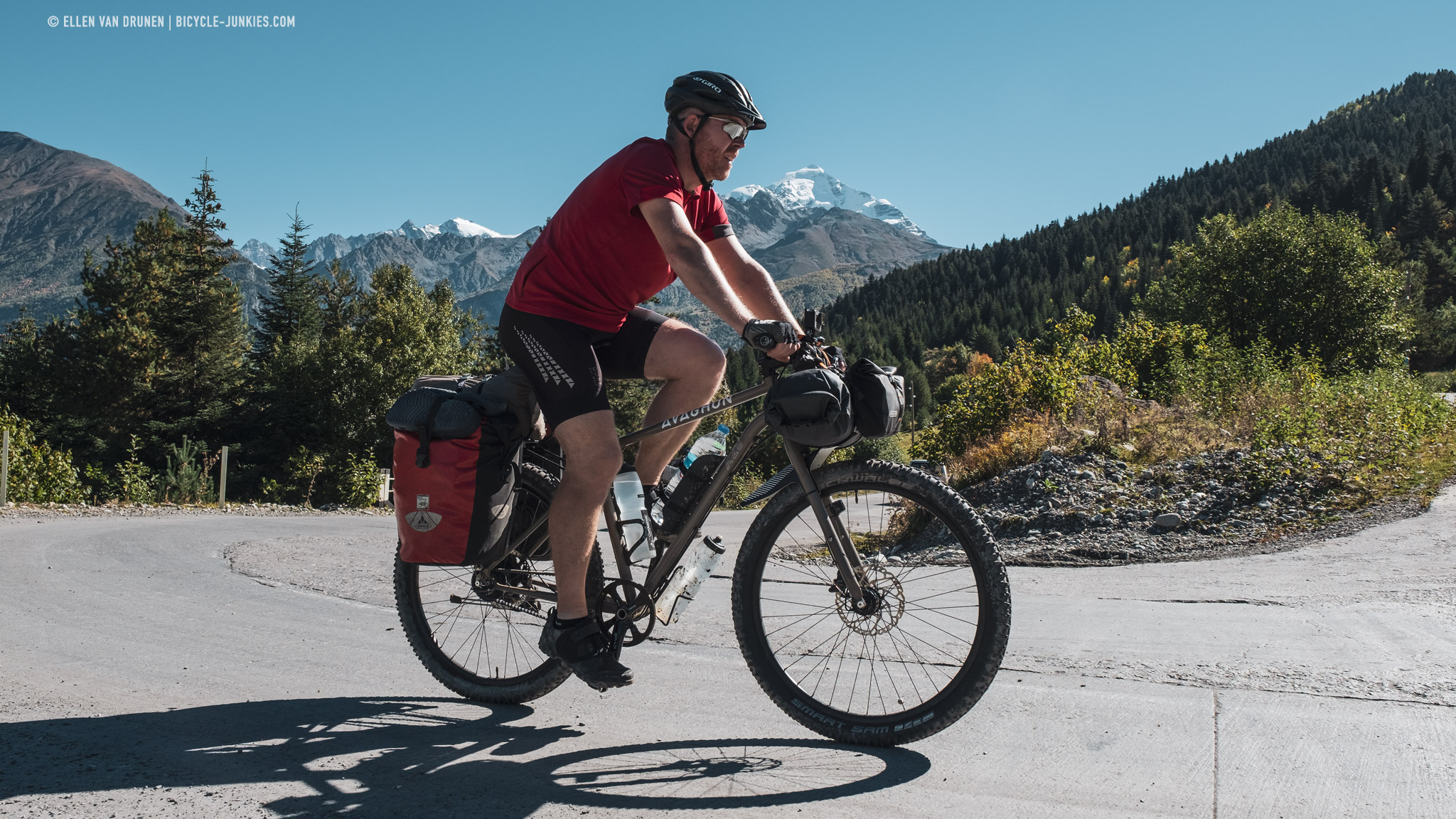 Cycling to Ushguli