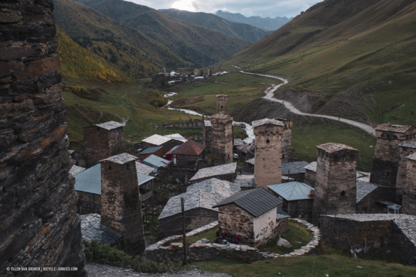 Svan towers in lower Ushguli