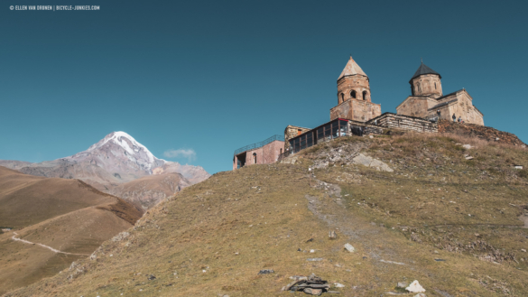 Gergeti Churck and Mount Kazbek
