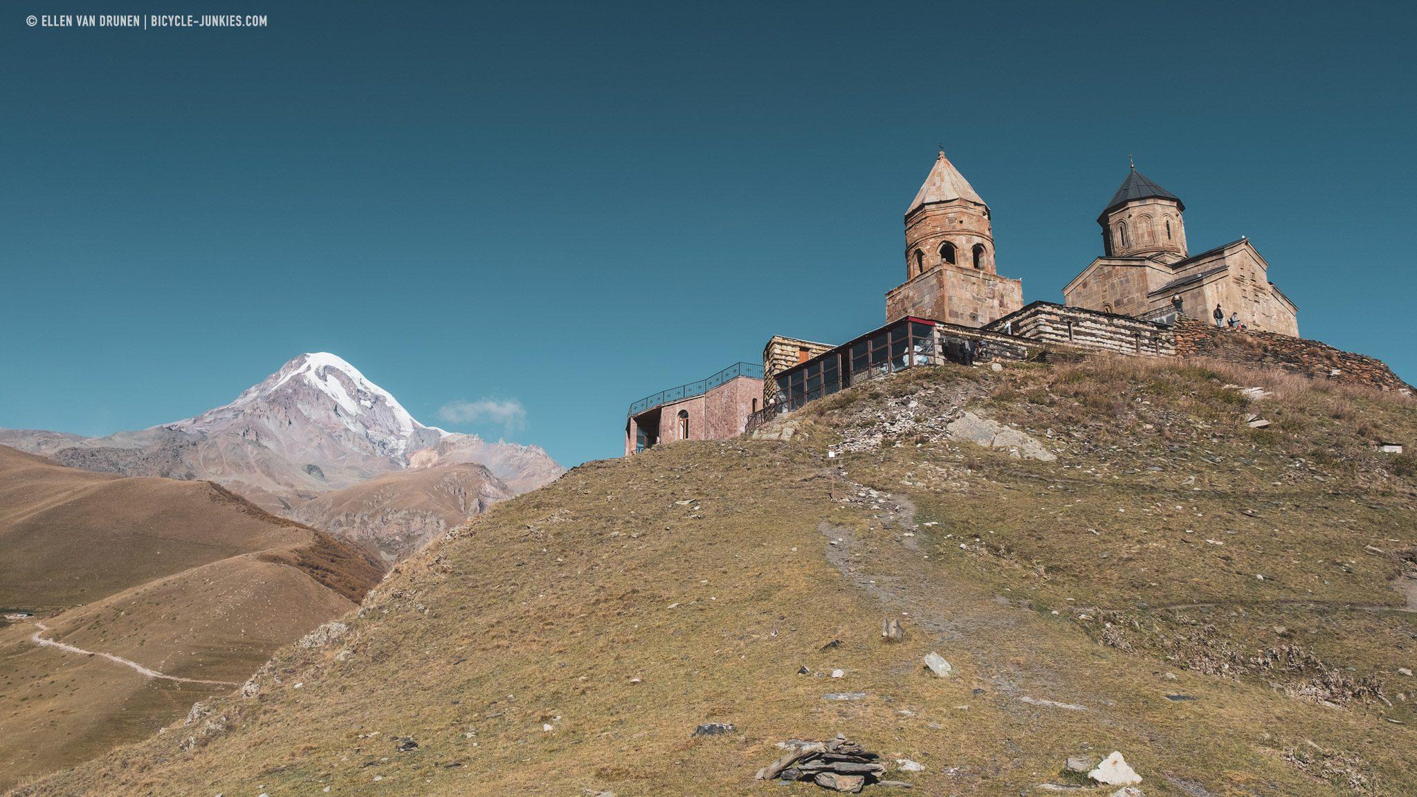 Gergeti Churck and Mount Kazbek