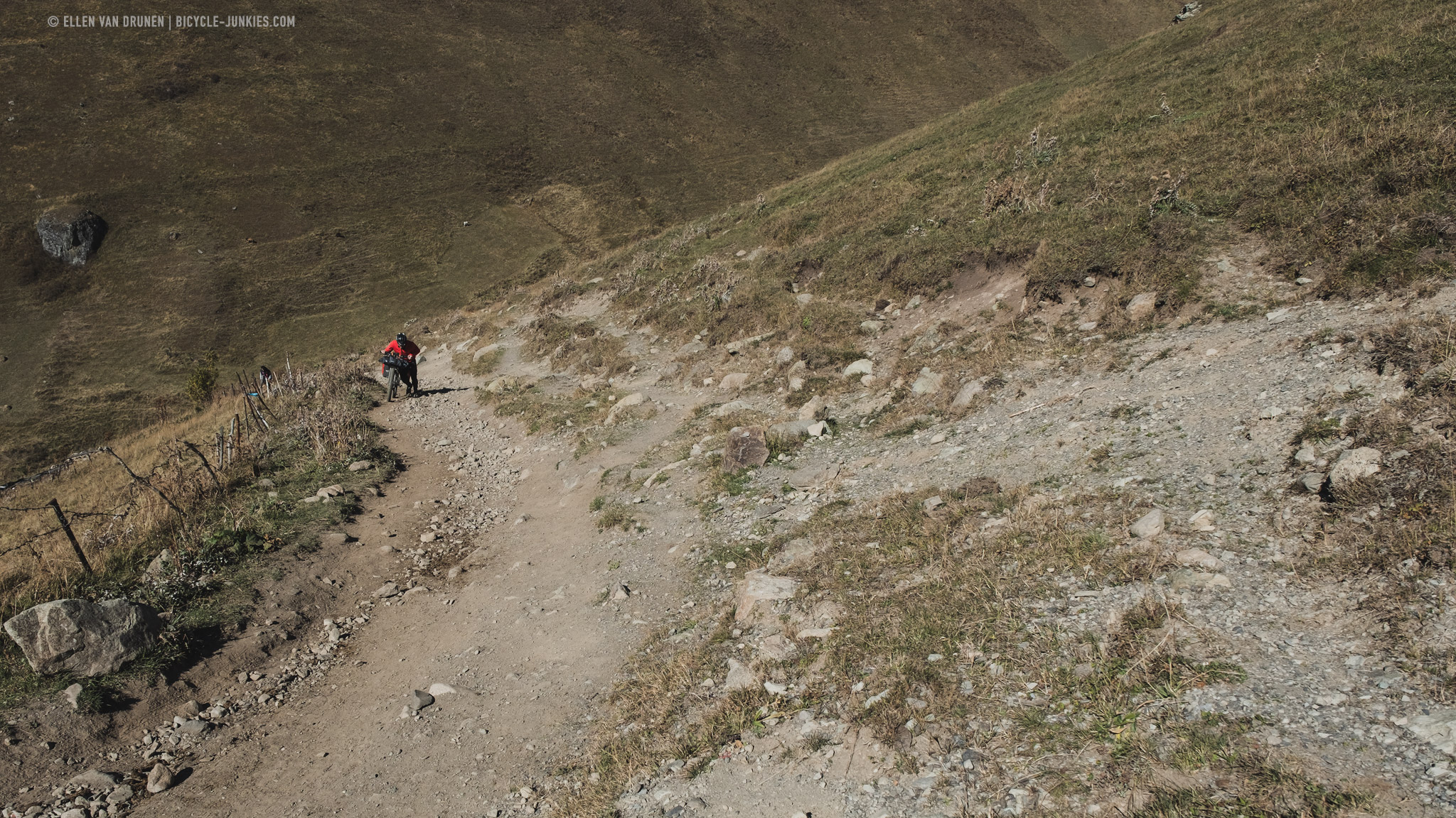 Bikepacking Chaukhi pass in Georgia
