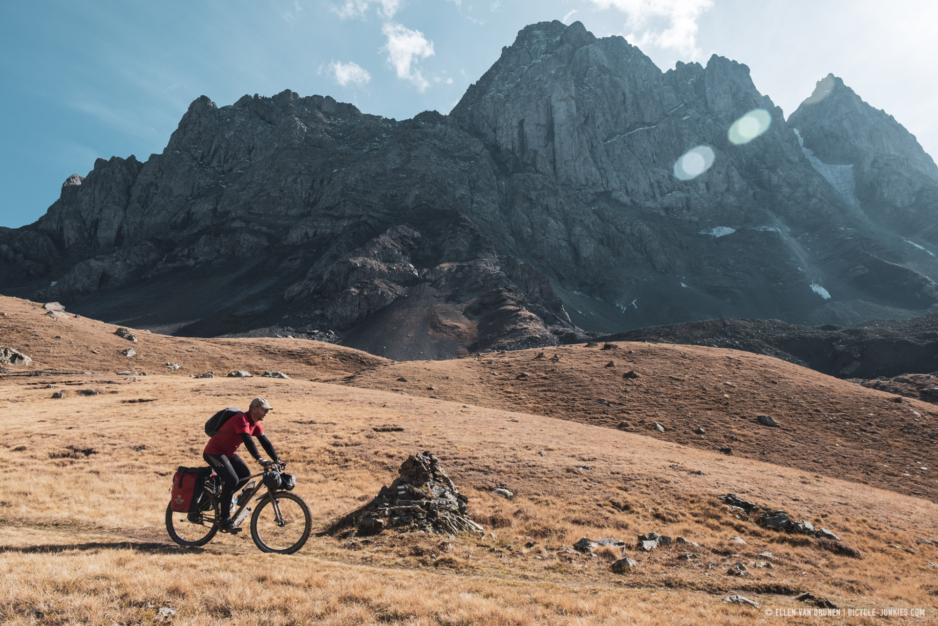 Bikepacking the Chaukhi pass in Georgia