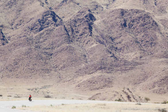 Cycling in Namibia