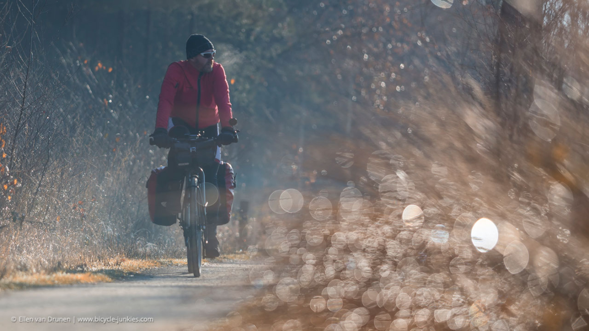 Winter cycling in the Netherlands on an Avaghon X29