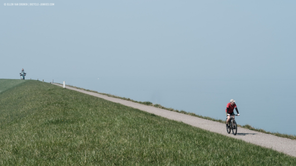 Car free riding along the coast of the Oosterschelde