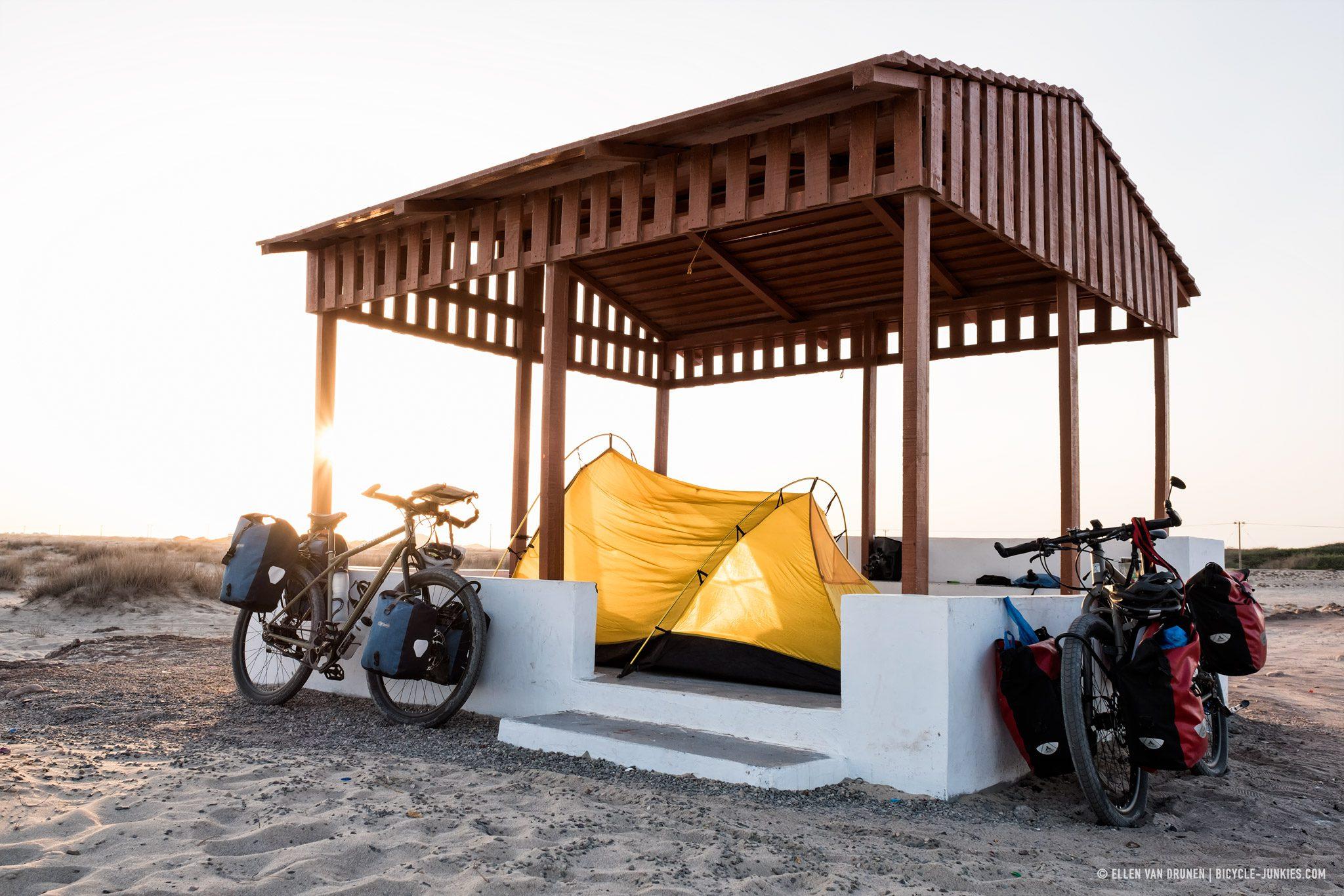 Our camp spot near the beach