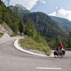 Cycling in Slovia Triglav National Park on an Avaghon X29