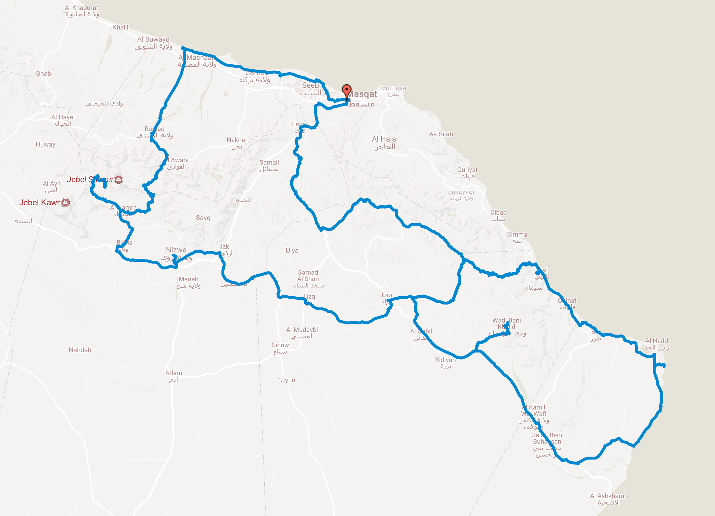 Bicycle touring in Oman
